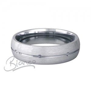 Palladium Wedding Ring Beso Pattern Width 3 to 6mm D Shape