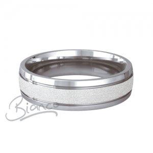 Palladium Court Wedding Rings Pasion Pattern 3 to 6mm Medium
