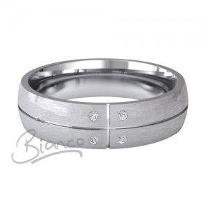Palladium Court Diamond Wedding Rings Solido Pattern 4 to 6mm