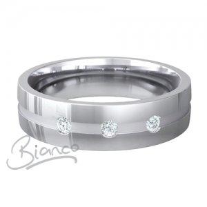 Palladium Court Diamond Wedding Rings Belleza Pattern 4 to 6mm