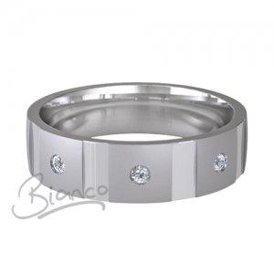 Palladium Diamond Wedding Ring Contatto