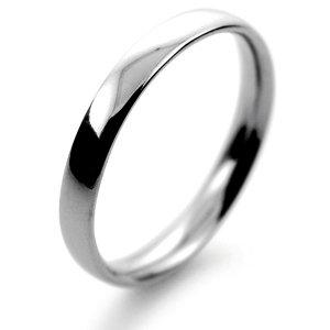 Palladium Wedding Ring Court Light Weight -  2.5mm