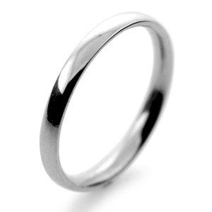 Palladium Wedding Ring Court Light Weight -   2mm