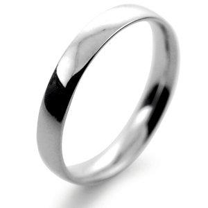 Palladium Wedding Ring Court Light Weight -  3mm