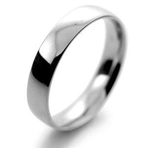 Palladium Wedding Ring Court Light Weight -  4mm