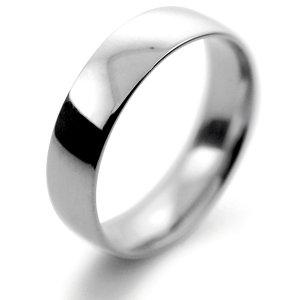 Palladium Wedding Ring Court Light Weight -  5mm