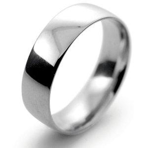 Palladium Wedding Ring Court Light Weight -  6mm