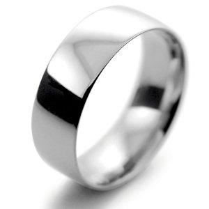 Palladium Wedding Ring Court Light Weight -  7mm