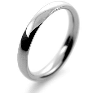 Palladium Wedding Ring Court Medium - 2.5mm