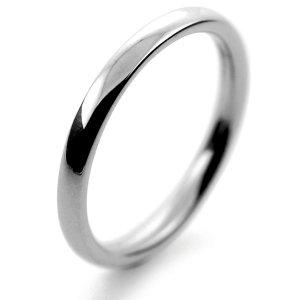 Palladium Wedding Ring Court Medium -  2mm
