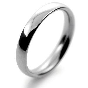 Palladium Wedding Ring Court Medium - 3mm