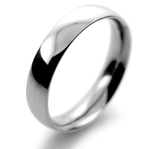 Palladium Wedding Ring Court Medium - 4mm