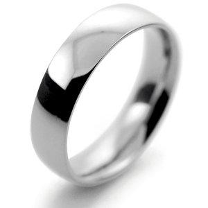 Palladium Wedding Ring Court Medium - 5mm
