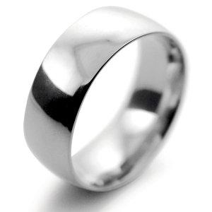 Palladium Wedding Ring Court Light Weight -  8mm