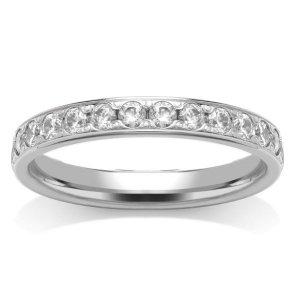 All Full Eternity Diamond Rings - 18ct White Gold