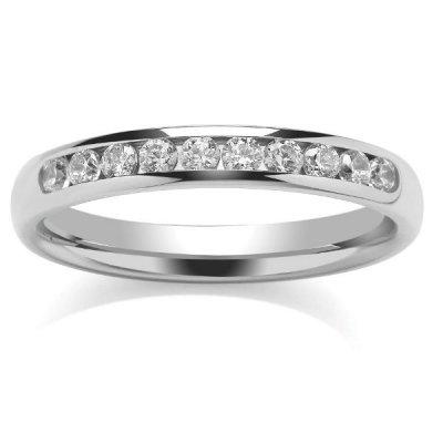 9ct White Eternity Ring Ten Stone