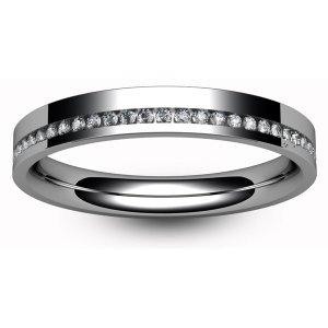 Palladium Wedding Rings Diamond Inlaid - Hallmark 950
