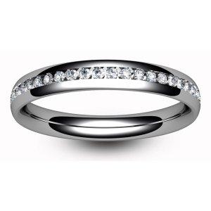 18ct White Gold Full Eternity Brilliant  Diamond  Ring