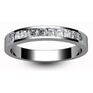 9ct White Gold Princess Diamond Eternity Ring