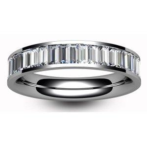 18ct White Gold Full Eternity Baguette Cut Diamond  Ring