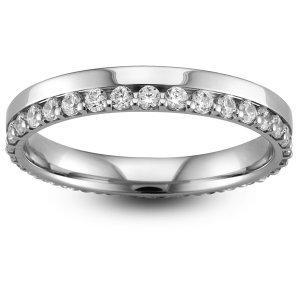 9ct White Gold Half Eternity Ring