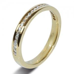 Yellow Gold 18ct Half Eternity Diamond Rings