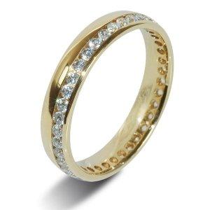 Yellow 18ct Gold Diamond Wedding Rings