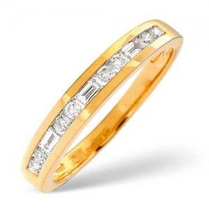 Diamond Ring 0.25 carat - 18ct Yellow Gold Eternity Ring