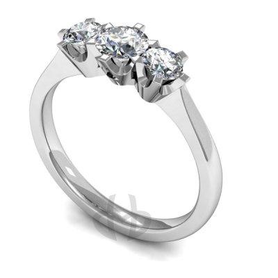 9ct Gold Diamond Engagement Ring Trilogy