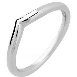Palladium Designer Shaped Wedding Ring Width 1.7mm