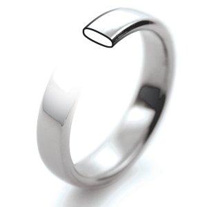 Palladium Wedding Rings- Slight Court