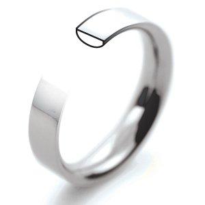 Palladium Wedding Rings - Flat Court Profile