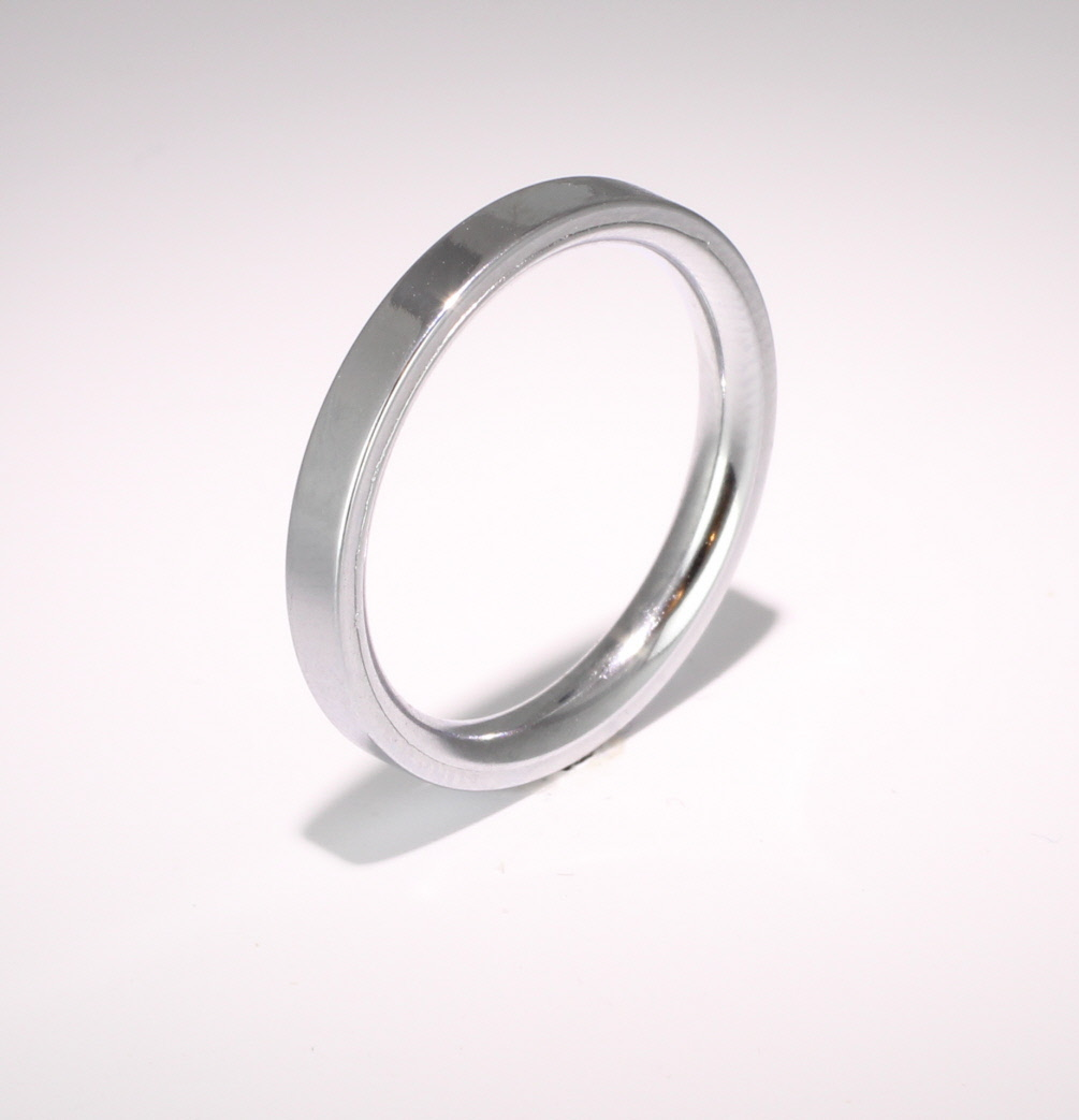 Flat Court Very Heavy -  2.5mm Platinum Wedding Ring (Plat or Pall)