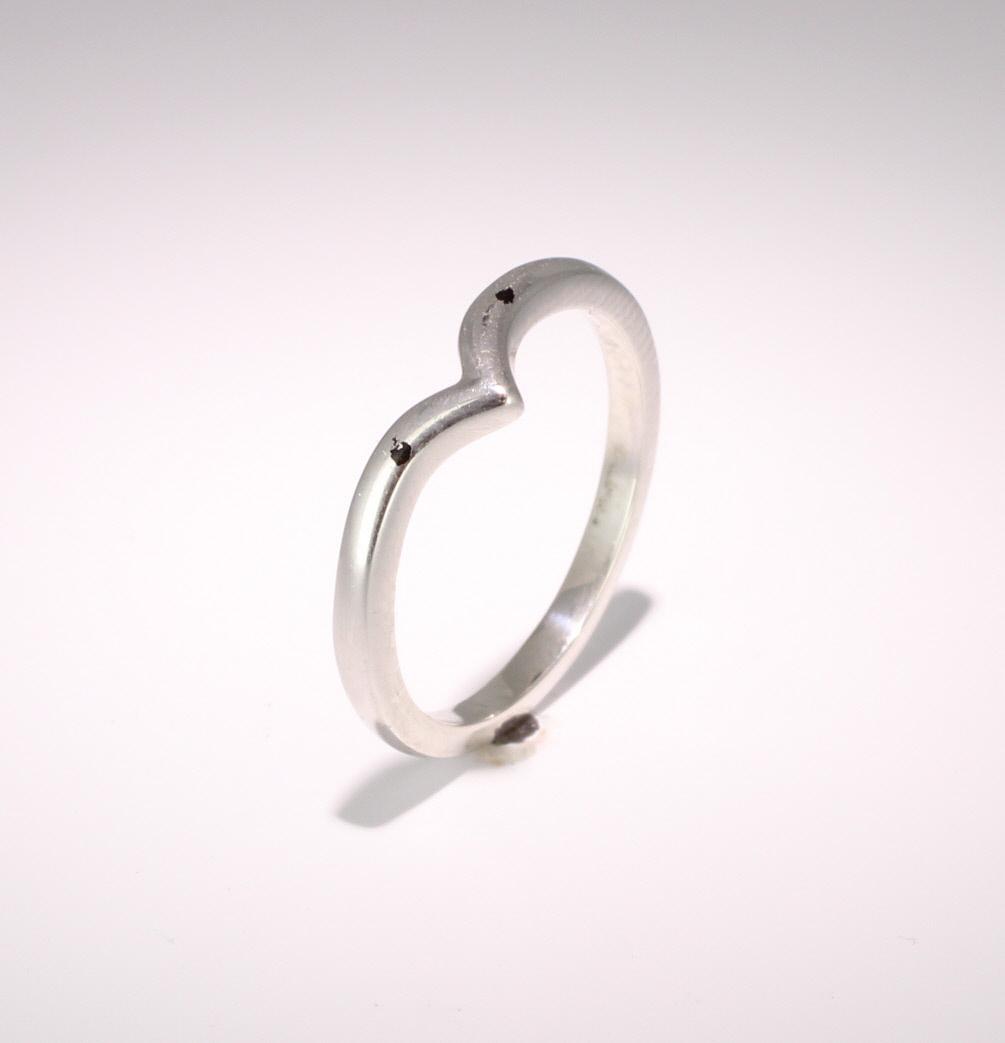 Shaped Wedding Ring Width 2.5mm (PALR969) Palladium