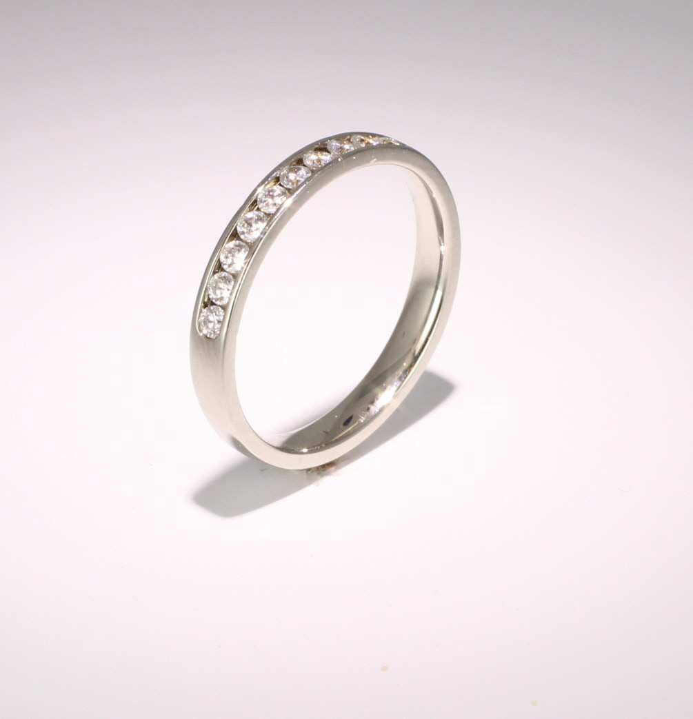 18ct White Gold Eternity Ring - Channel Set