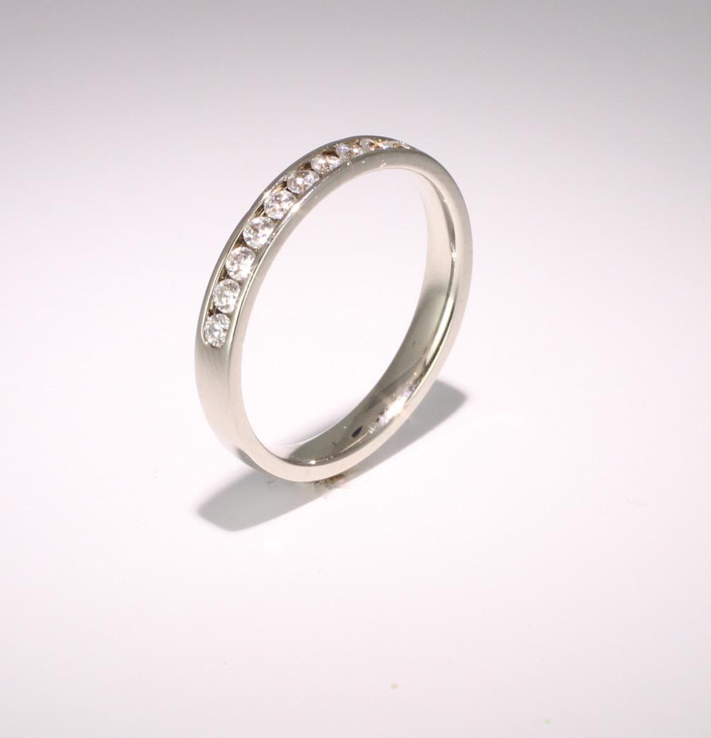 Platinum Eternity Ring - Channel Set
