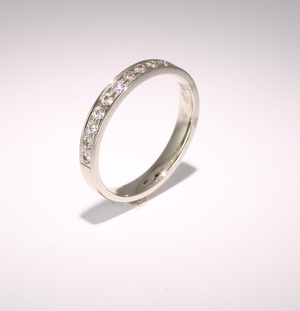 Palladium Eternity Ring - Grain Set