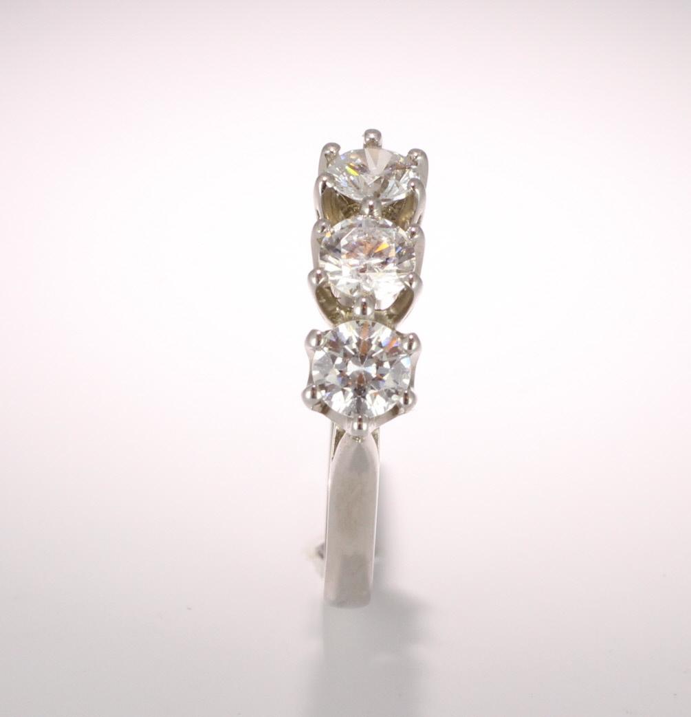 18ct Gold Diamond Engagement Ring Trilogy