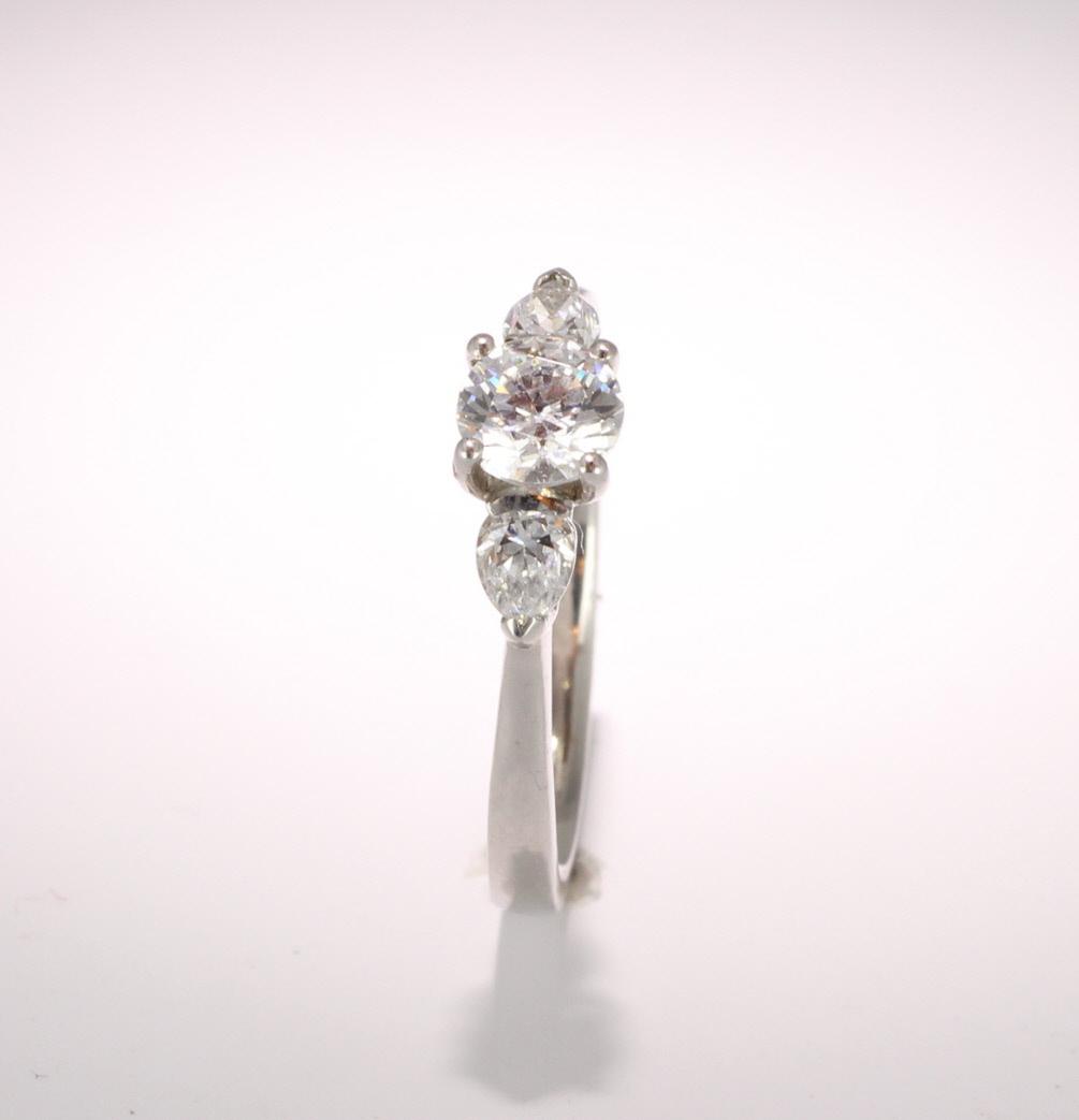 Platinum Diamond Engagement Ring Trilogy