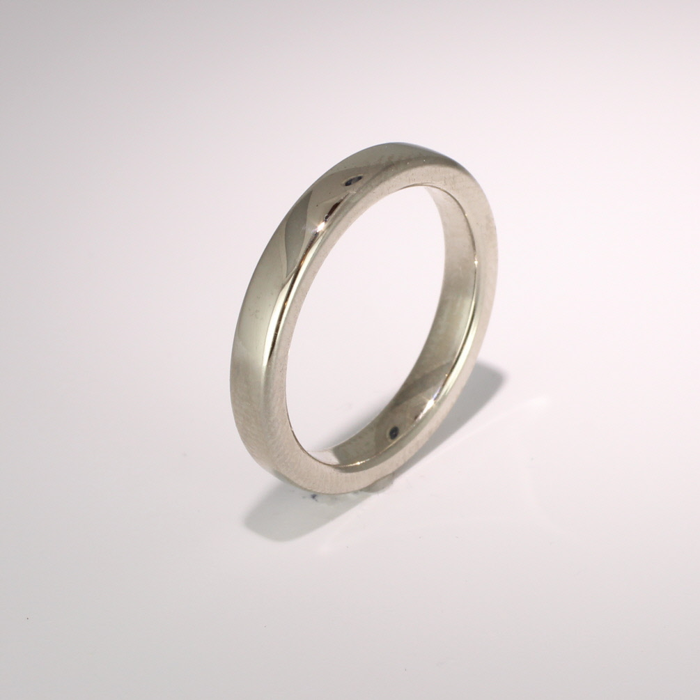 Soft Court Very Heavy - 3mm (SCH3 W) White Gold Wedding Ring