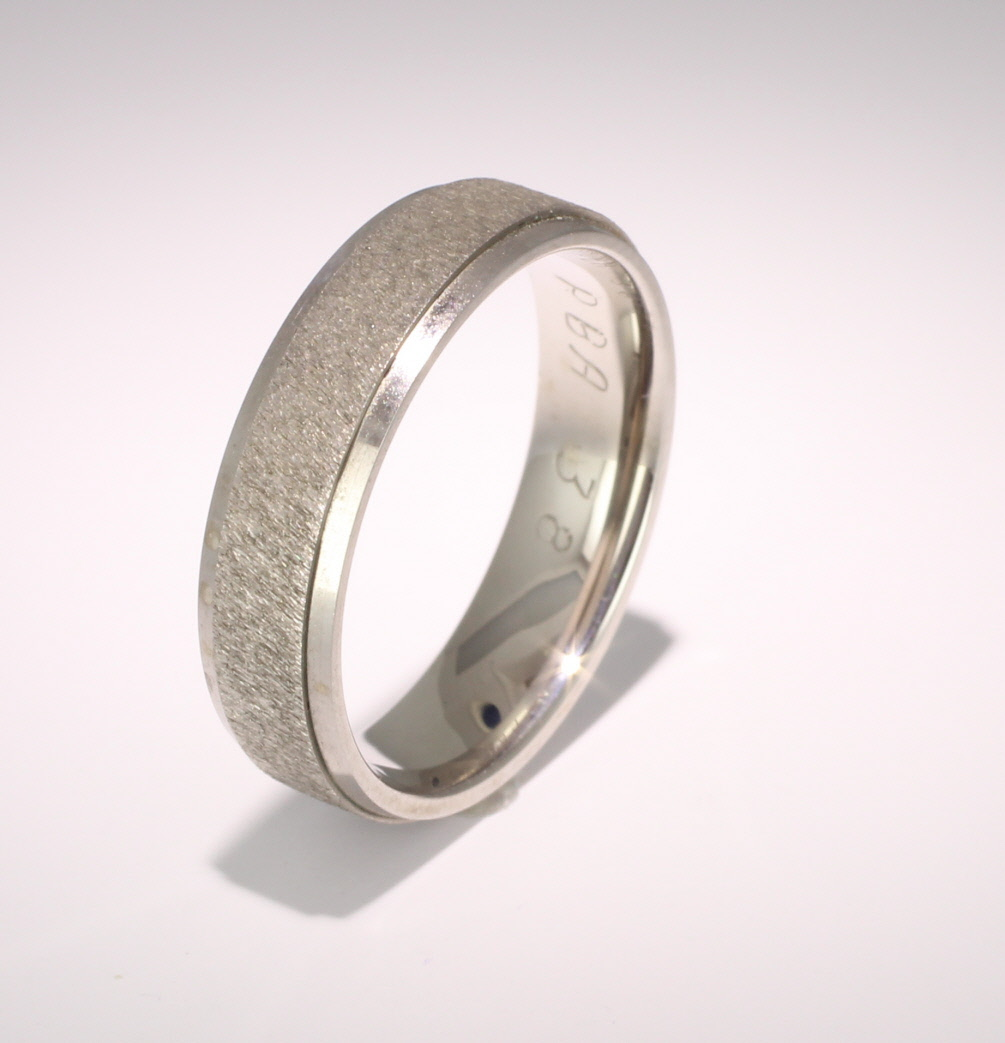Patterned Designer Palladium Wedding Ring Dilectio
