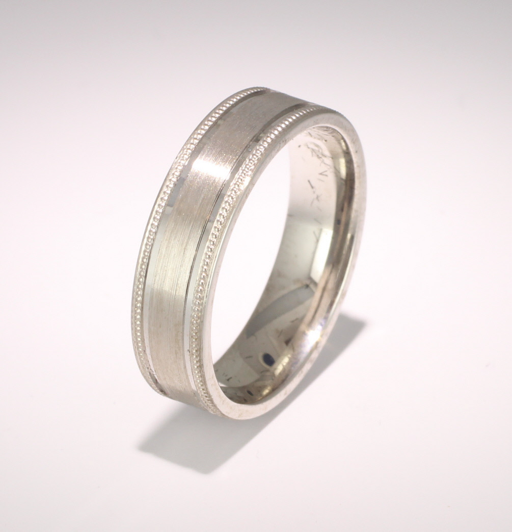Special Designer Platinum Wedding Ring Espacio (Plat or Pall)