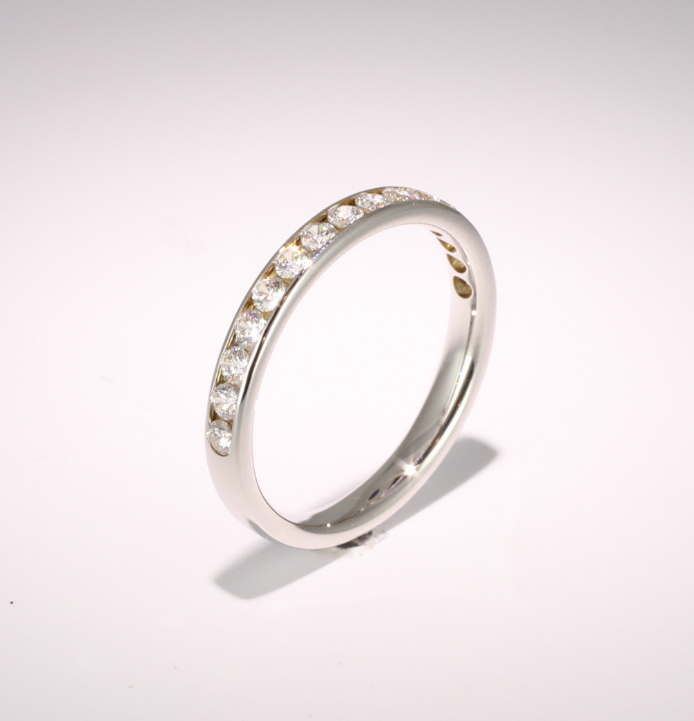 Eternity Ring (1012H) - Half Channel Set - All Metals