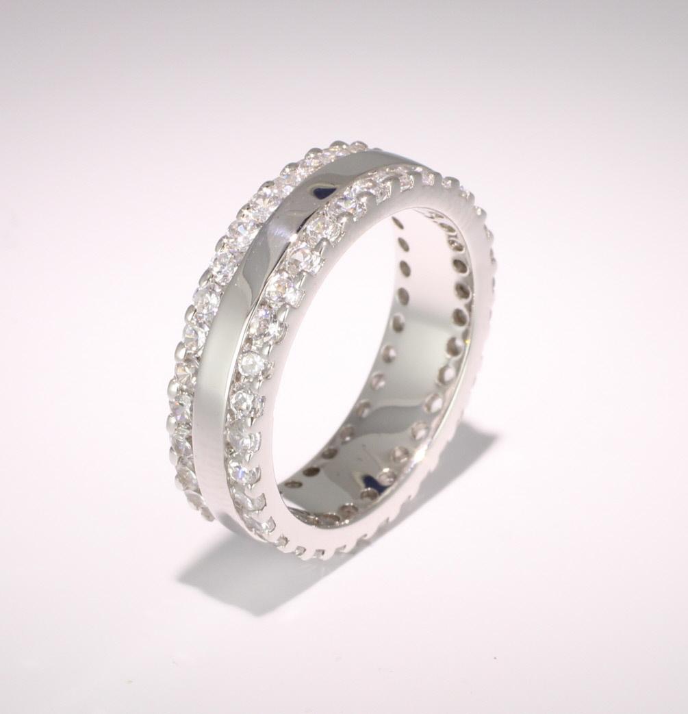 9ct White Gold Full Eternity Brilliant  Diamond  Ring