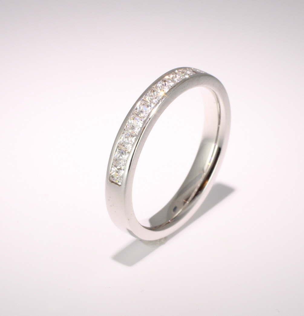Palladium Princess Diamond Eternity Ring