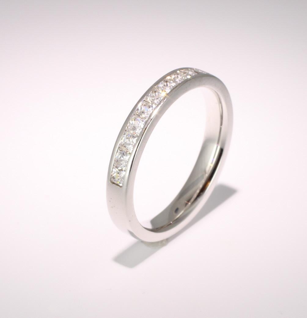 Platinum Princess Diamond Eternity Ring