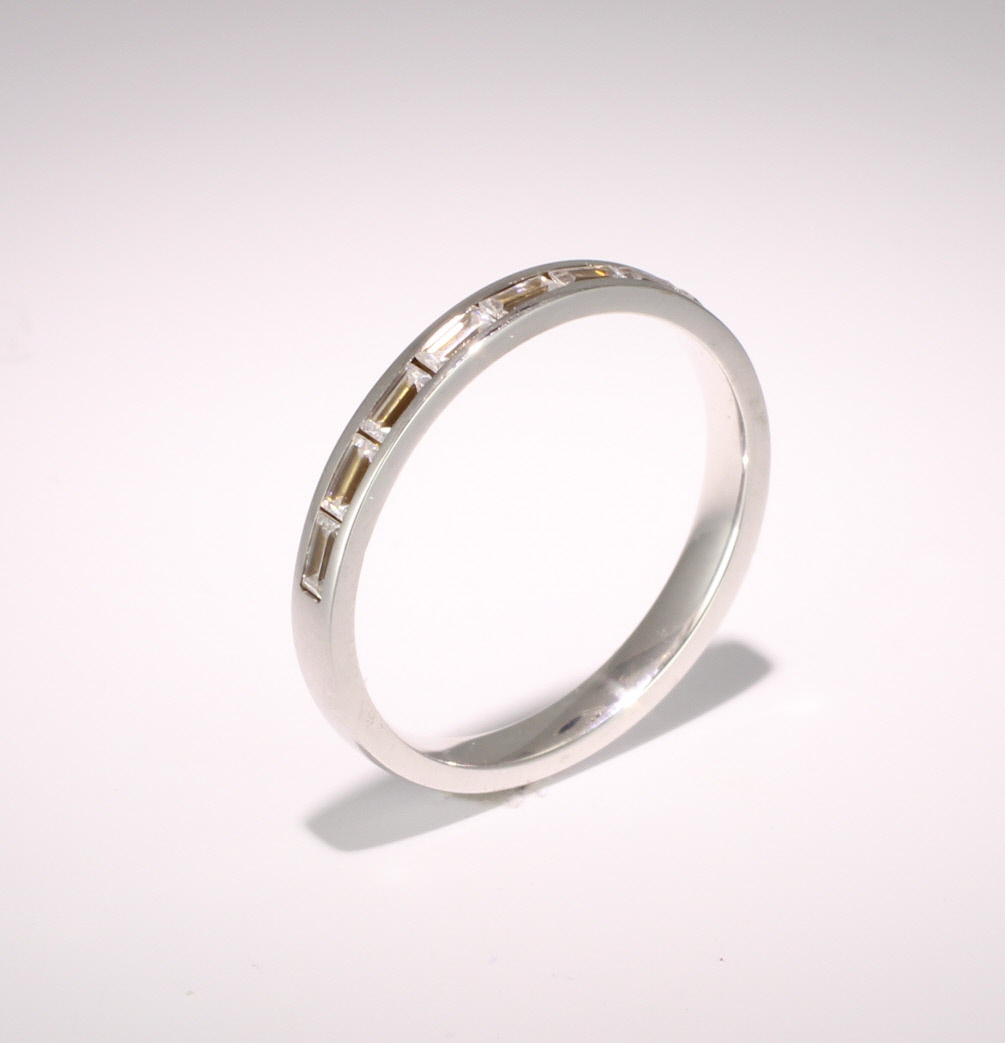 Eternity Ring (TBC3005H) - Half Channel Set Baguette - All Metals
