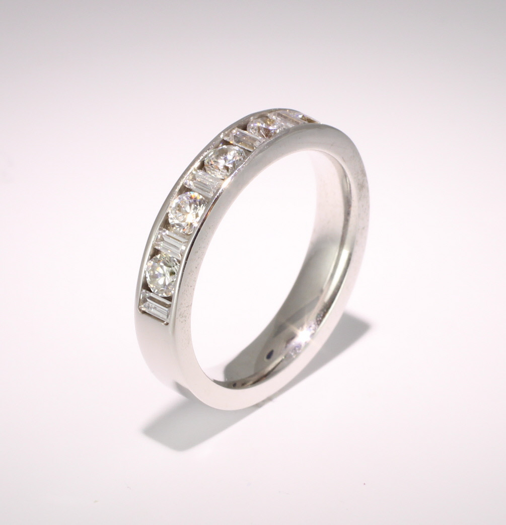 9ct White Gold Half Eternity Ring