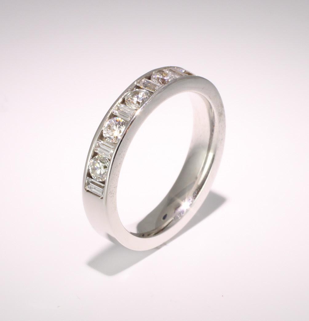 Platinum Half Eternity Ring