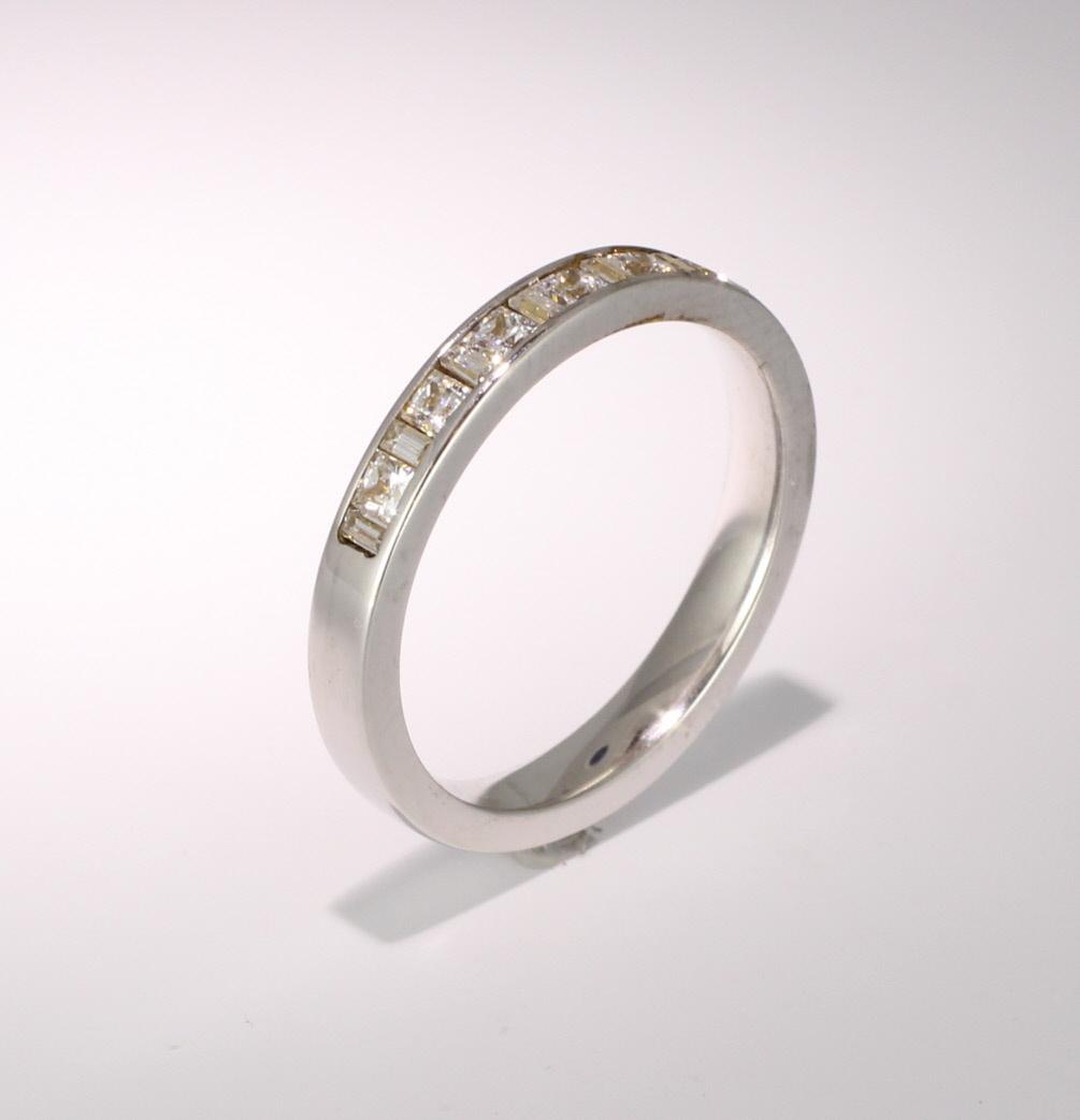 Palladium Half Eternity Ring